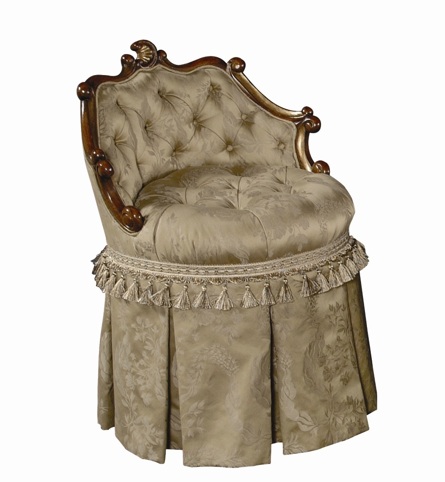 luxury leather u0026 upholstered furniture vanity stool with swivel tufted