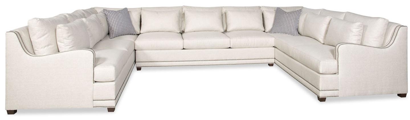 Simple style large U shaped sectional sofa 9888