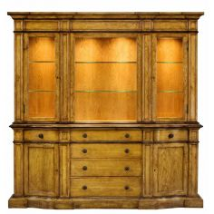 1 Upscale furniture, solid Oak library bookcase - china cabinet 67-27