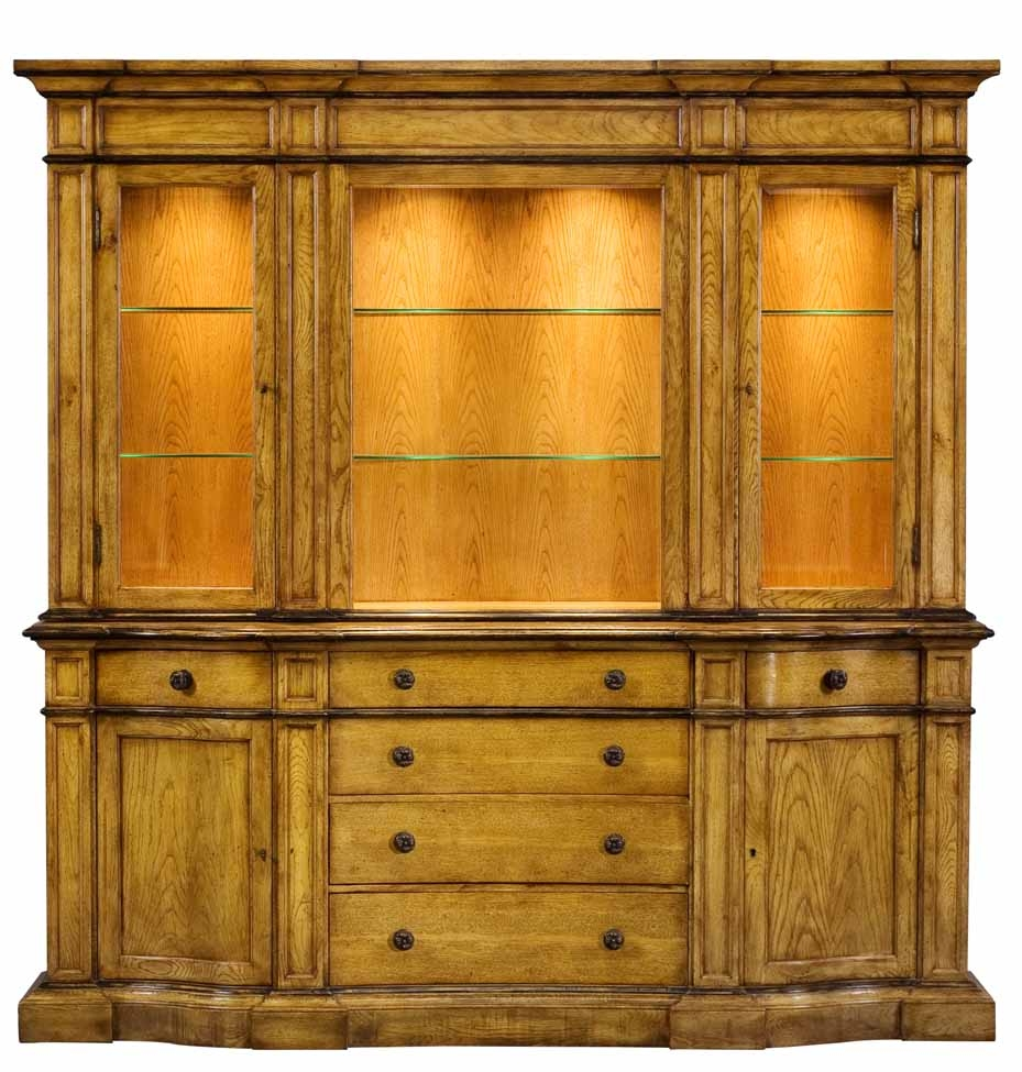 Merveilleux Breakfronts U0026 China Cabinets 1 Upscale Furniture, Solid Oak Library  Bookcase   China Cabinet 67
