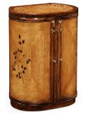 Luxury locking jewelry armoire with mirror. Vanity dressing table.