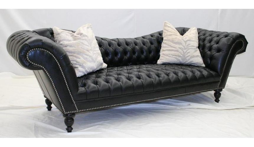 SOFA, COUCH & LOVESEAT Victorian style sofa. Sleek and fun