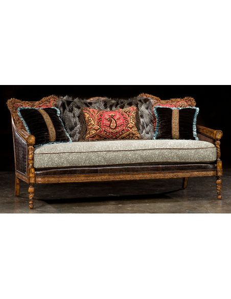 1 Victorian sofa, great colors, high quality, lost look from the past
