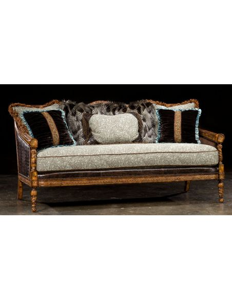SOFA, COUCH & LOVESEAT 1 Victorian sofa, great colors, high quality, lost look from the past
