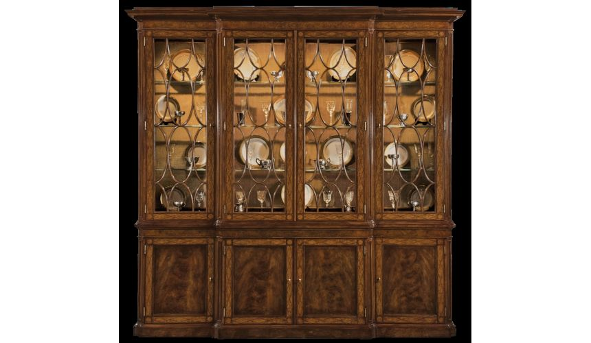 Breakfronts & China Cabinets Walnut china cabinet. American made furniture and furnishings.