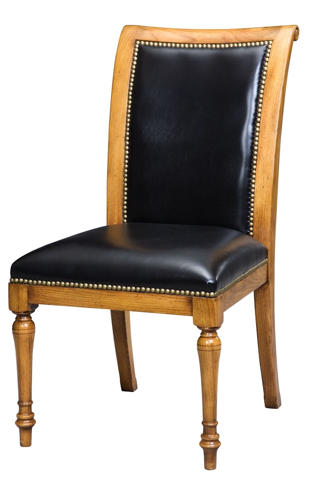 Dining Chairs Leather And Oak, Dining Chair Goes With Jupe Table. English  Antique Reproduction