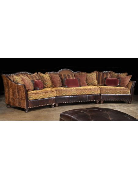 01 western furniture. Custom sectional sofa, chairs, hair hide ottoman