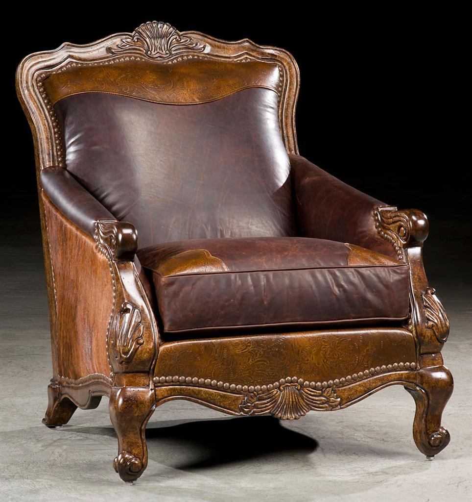 Western Rustic Luxury Hair Hide Chair 49