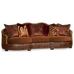 Wild side large sofa with designer fabrics and leathers