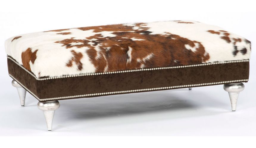 Luxury Leather & Upholstered Furniture wild side ottoman.