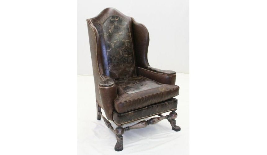 Luxury Leather & Upholstered Furniture Wild West Chair, fine home furnishings
