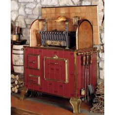 WOOD AND CHARCOAL FIRED INDOOR OUTDOOR GRILL RED