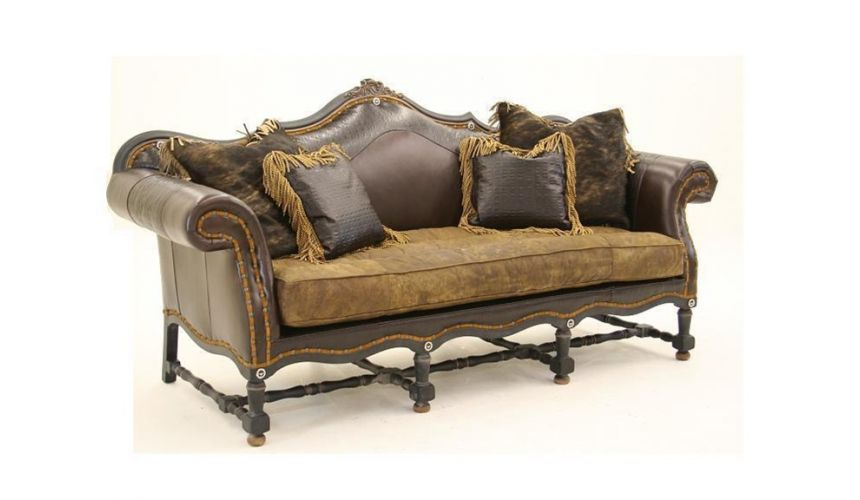Luxury Leather & Upholstered Furniture English Style Sofa B-sofa, chair, leather, fabric
