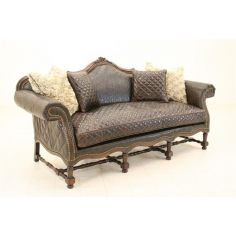Wild West Tooled Leather Sofa Luxury Furniture