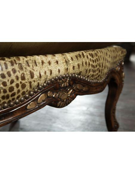 594 sofa, chair, leather, gator