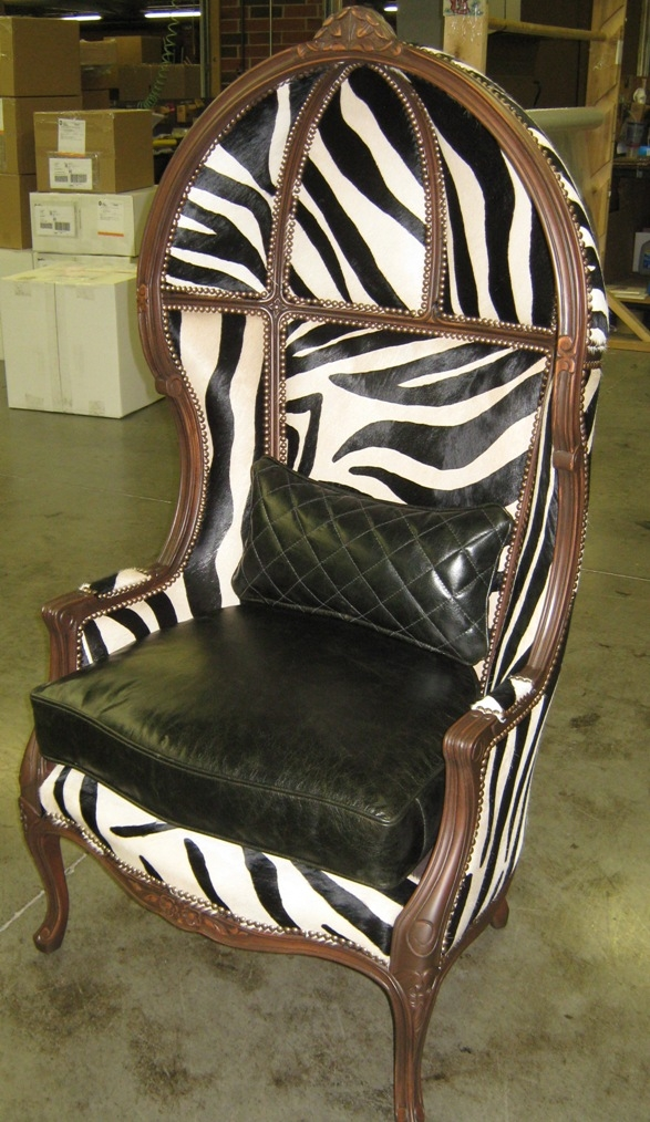 Luxury Leather U0026 Upholstered Furniture Zebra Hair Hide Secrets Chair,  Luxury Furniture