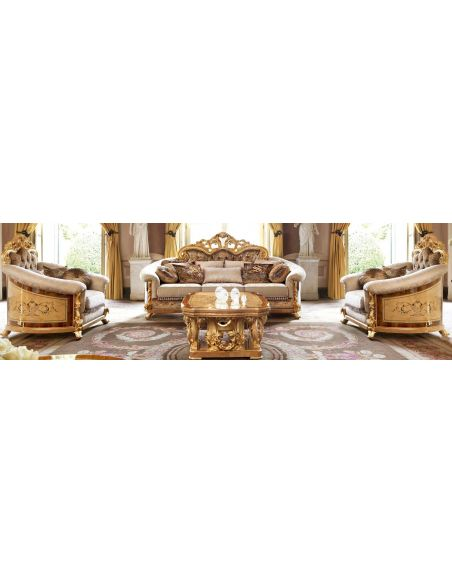 Unique and lavish sofa from our exclusive empire collection.