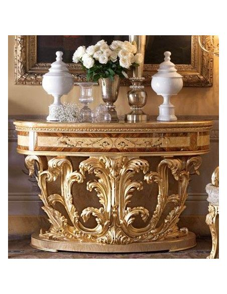 Console & Sofa Tables Demilune console table. From our exclusive empire collection.