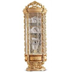 Exclusive Empire Collection, Round Glass Display Cabinet