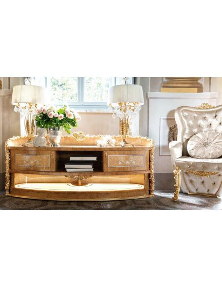 Furniture Masterpieces Luxury TV stand with Mother of pearl inlay