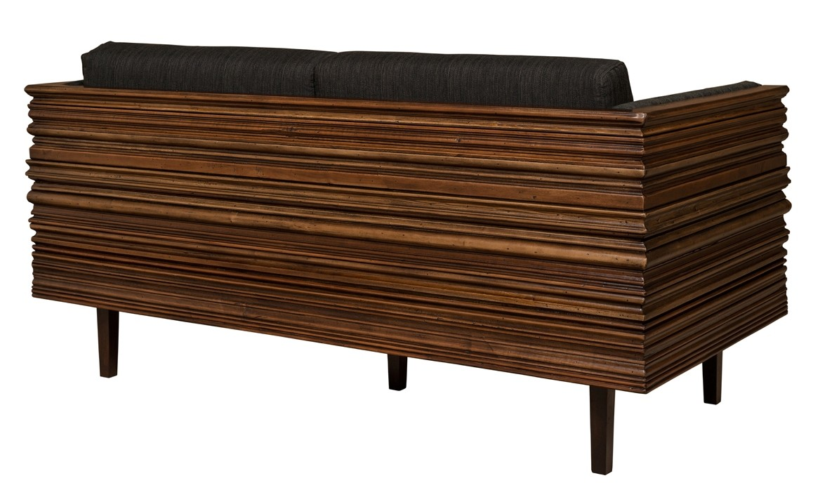 Solid Wood Wavy Frame Modern Style Sofa
