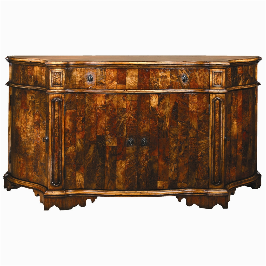 1 European Inspired Chest Of Burl Wood