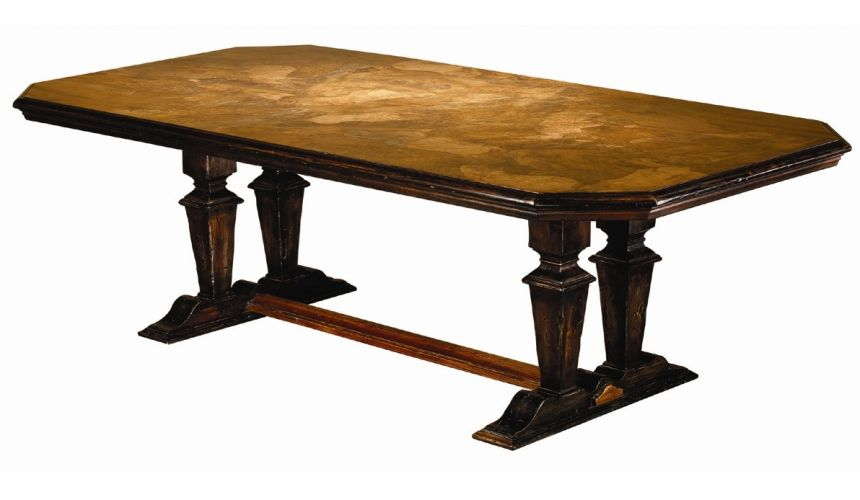 Dining Tables Rustic style solid wood burl dining table