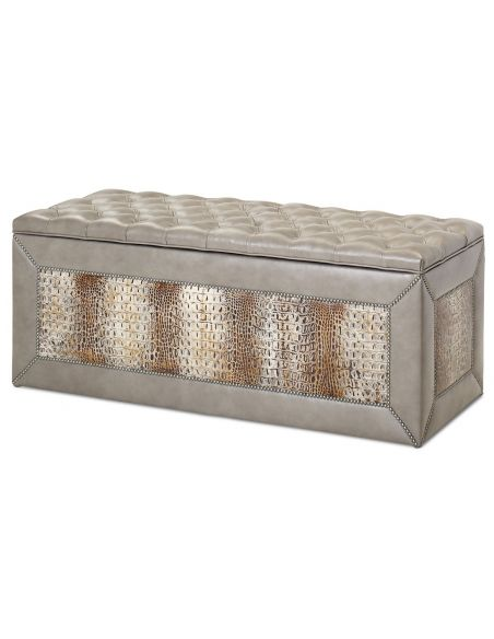 BEDS - Queen, King & California King Sizes High end ottoman or bench with a hidden safe
