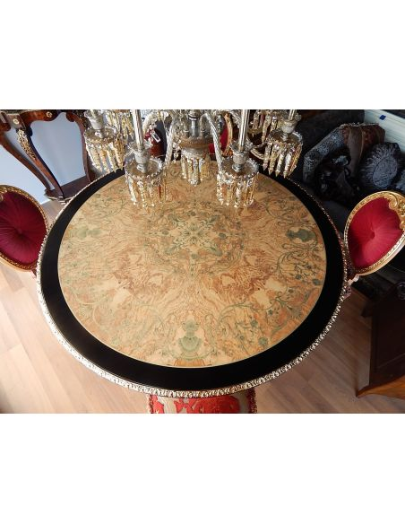 Dining Tables High end dining table. King Louis Collection Boulle marquetry work.