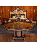 High end dining table. King Louis Collection Boulle marquetry work.