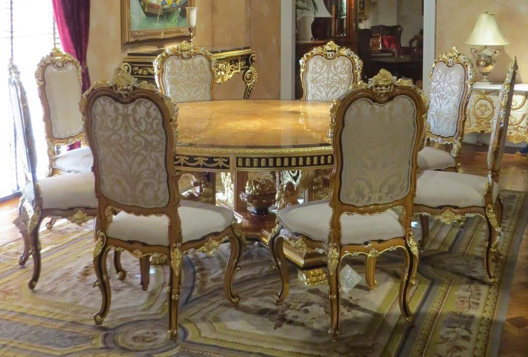 King Louis Collection Boulle Marquetry Work On Dining