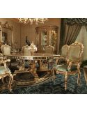 King Louis Collection. Boulle marquetry work on dining table top