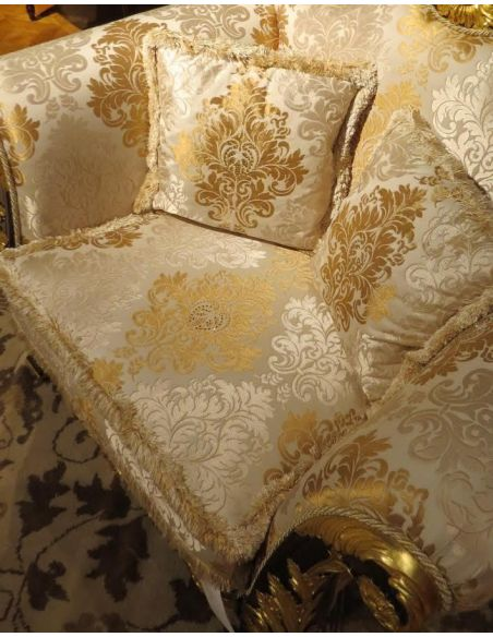 Diamond cluster fabric empire style high end sofa