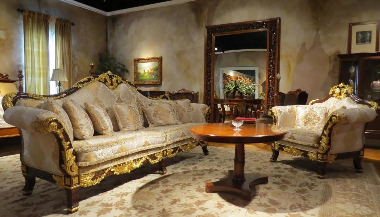 Luxury Leather Upholstered Furniture 1 Empire Style High End Sofa In Stock