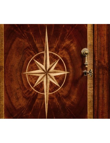 Crotch Mahogany Wood Side Cabinet-92