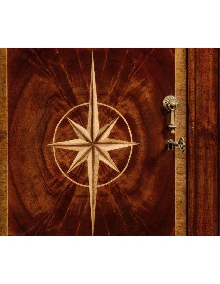 Breakfronts & China Cabinets Crotch Mahogany Wood Side Cabinet