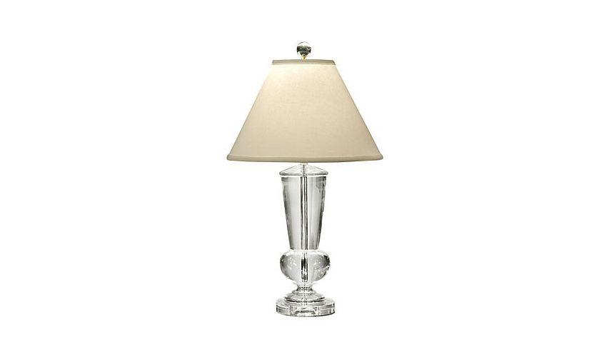 Centrally Wired Crystal Lamp