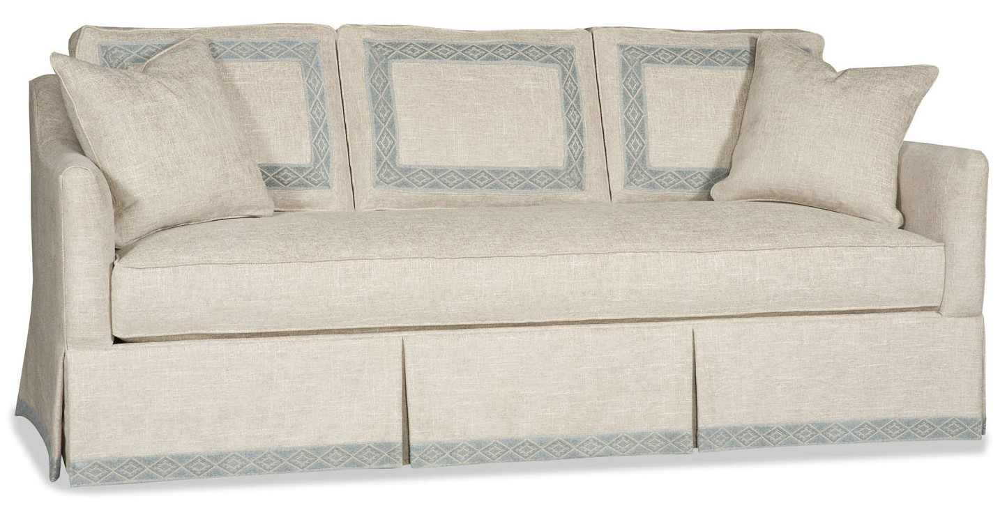 Superb SOFA, COUCH U0026 LOVESEAT Skirted Sofa With Beautiful Detailing