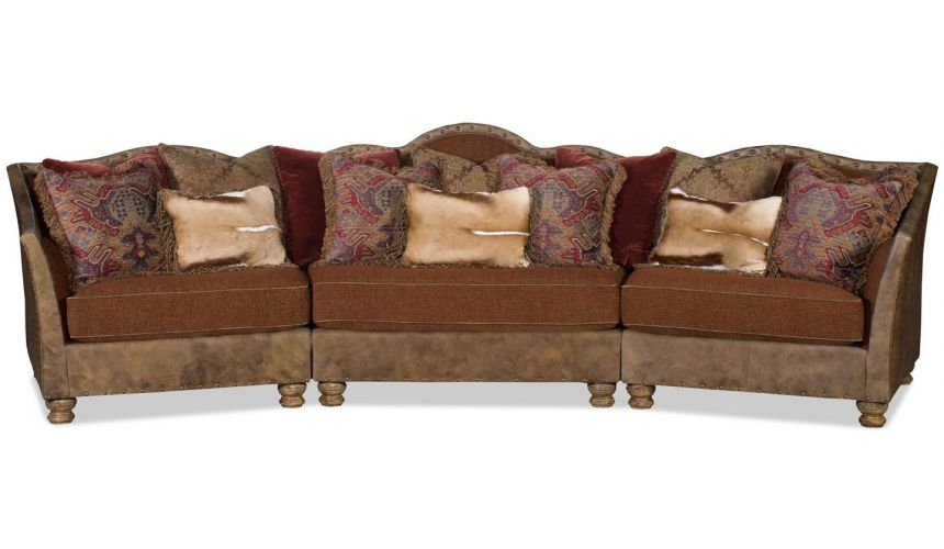 SECTIONALS - Leather & High End Upholstered Furniture Grand three piece western style sectional