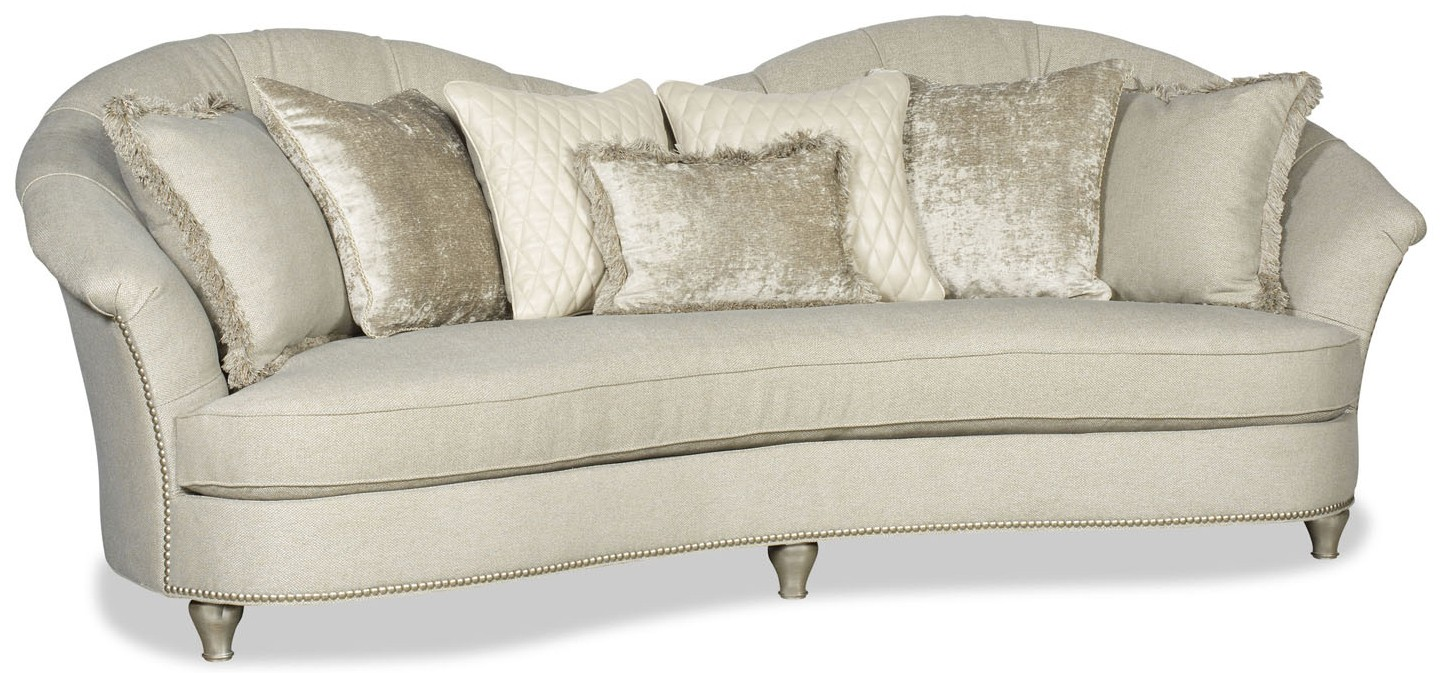SOFA, COUCH U0026 LOVESEAT Modern Style Curved Back White Sofa