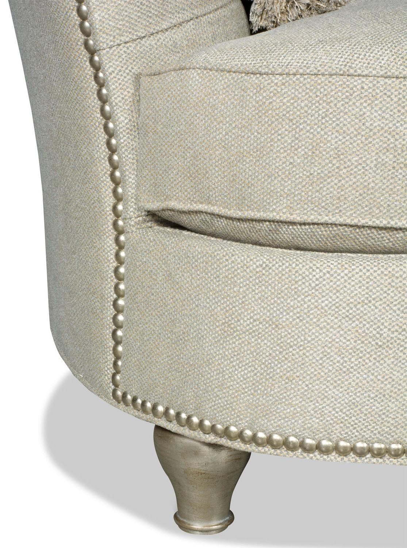 Modern Style Curved Back White Sofa