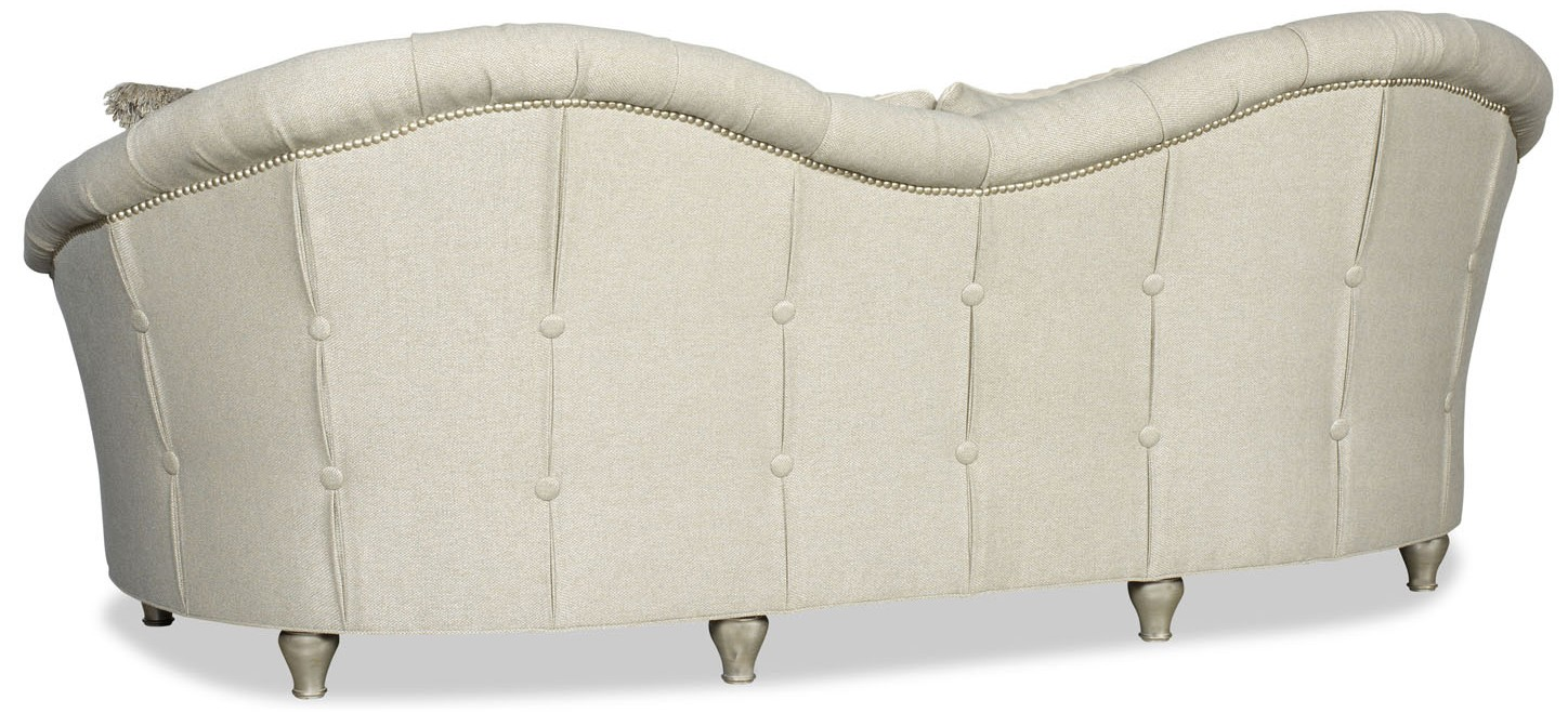 Modern Style Curved Back White Sofa