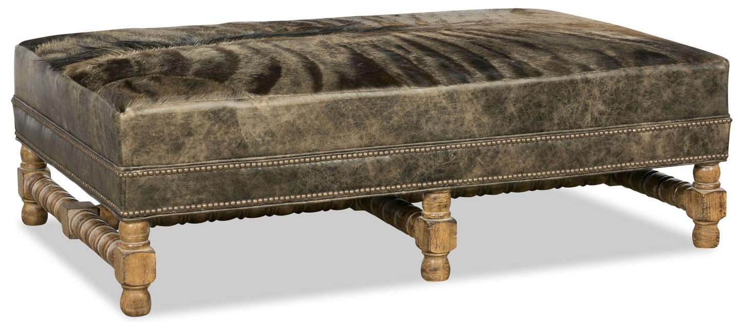 OTTOMANS Unique leather and fur ottoman - Unique Leather And Fur Ottoman