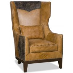 Western style wing backed chair