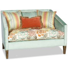Elegant light blue settee