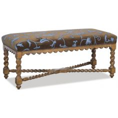 Intricately carved bench