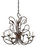 Intricate Designed Iron Chandelier