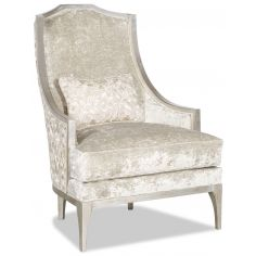 Armchair covered in a chic dove white fabric