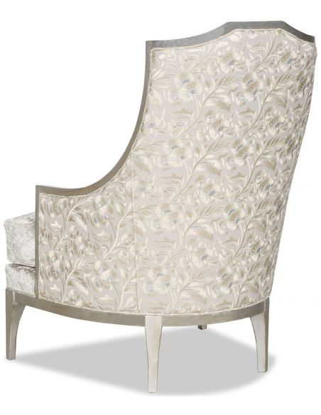 CHAIRS, Leather, Upholstered, Accent Armchair covered in a chic dove white fabric