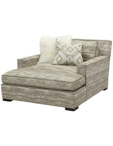 SETTEES, CHAISE, BENCHES Over sized chaise with clean modern lines